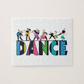 Spaß u. bunter gestreifter Tänzer-Tanz Puzzle