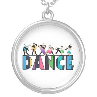 Spaß u. bunter gestreifter Tänzer-Tanz Versilberte Kette