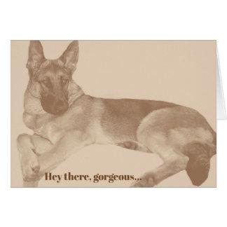 Spaß u. kokette Karte Schäferhundvalentines Tages