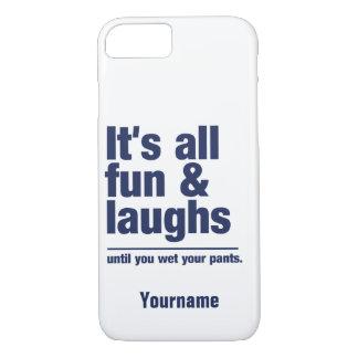 SPASS u. LACHEN-Name- u. -farbtelefon-Hüllen iPhone 7 Hülle