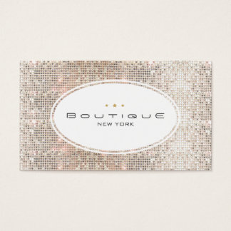 Spaß u. niedliches Mode-Butike-Imitatsilberne Visitenkarte
