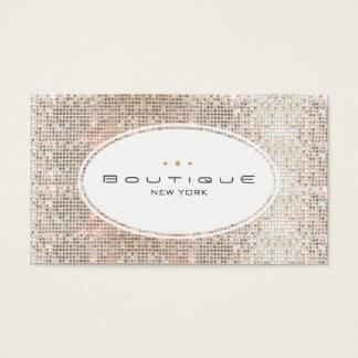 Spaß u. niedliches Mode-Butike-Imitatsilberne Visitenkarten