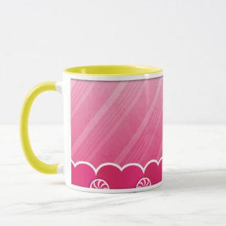 Spaß u. wunderliche rosa Pfefferminz-Tasse Tasse