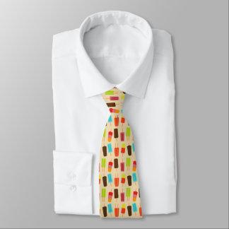 Spaß und bunte Popsicles-Retro Muster Krawatte