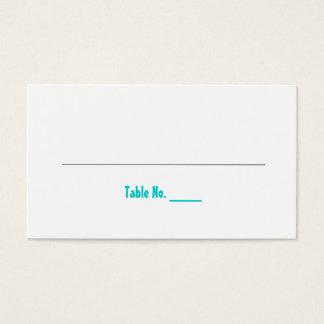 Spaß und moderne Hochzeit placecards Visitenkarte