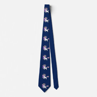 Spaß Unicorn-Krawatte für Vatis mit Tochter oder Krawatte