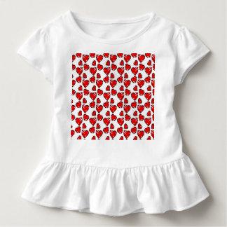 Spaß Valrentine Herz-Gekritzel Kleinkind T-shirt
