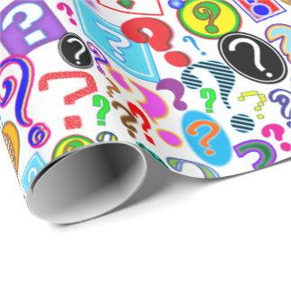 Spaß-vibrierendes Muster der Fragezeichen Geschenkpapier
