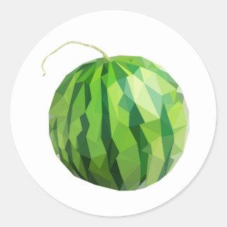 Spaß-Wassermelone-Entwurf Runder Aufkleber