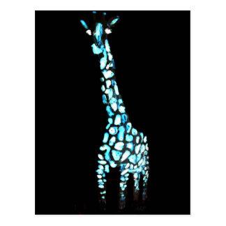 Spaß-wildes Tier-abstrakte Giraffe Postkarte