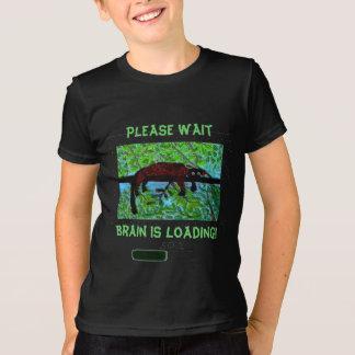 Spaß-wildes Tier-Gehirn lädt! T-Shirt