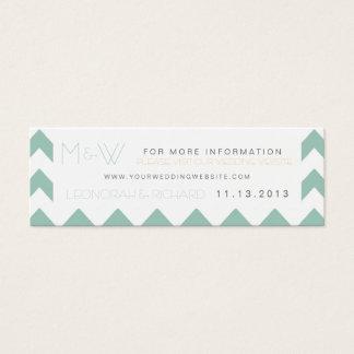 Spaß-Zickzack Monogramm-Hochzeits-Website-Karte Mini Visitenkarte