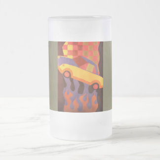 Spaßautoentwurf Mattglas Bierglas