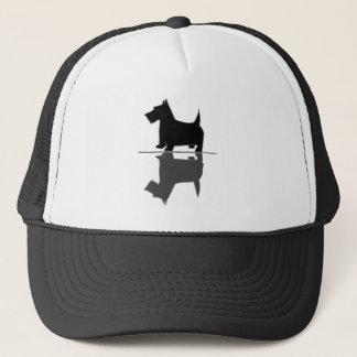 Spaßkünstlerische Scottish-Terrier-Reflexionen Truckerkappe