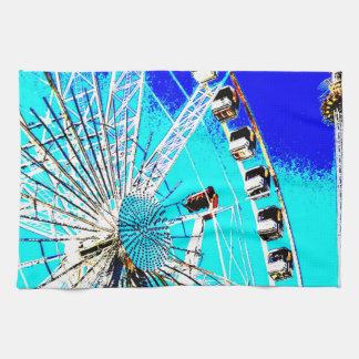 Spaßmesse im Amsterdam-Riesenrad und im hohen Turm Geschirrtuch