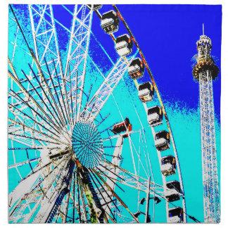 Spaßmesse im Amsterdam-Riesenrad und im hohen Turm Stoffserviette