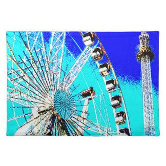 Spaßmesse im Amsterdam-Riesenrad und im hohen Turm Tischset