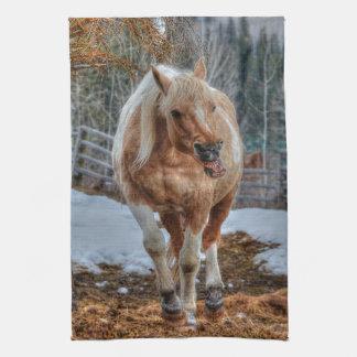 Spaßpalomino-Farben-Ranch-Pferdc$tier-liebhaber Handtuch