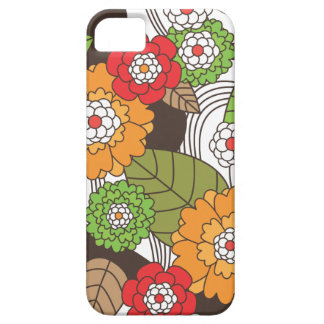 SpaßRetro Blumenmuster iphone Fall Barely There iPhone 5 Hülle