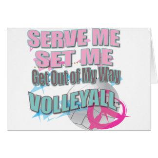 Spaßserve-Set-Volleyball-Geschenke Karte