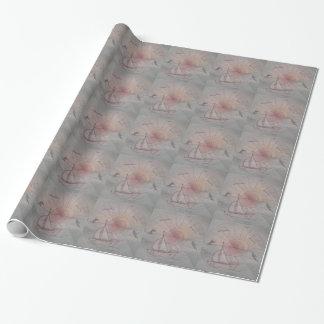 Spaßsonneblau Geschenkpapier