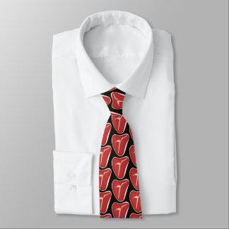 Spaßsteakhousemuster deckte Krawatte mit Ziegeln