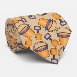 Spaßstrandeimer-Muster-Krawatte Personalisierte Krawatten