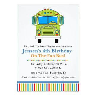 Spaßtumble-Bus-Geburtstags-Party Einladung