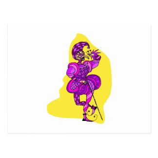 Spaßvogel-Clown Postkarte