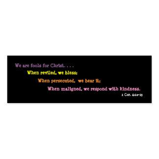 Spaßvögel für Christus-Lesezeichen (2 mit Seiten Mini-Visitenkarten