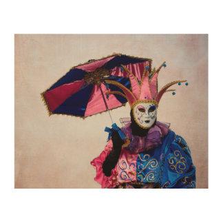 Spaßvogel-Karnevals-Kostüm, Venedig Holzwanddeko