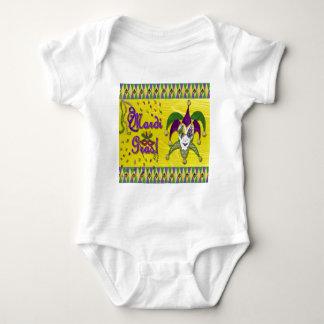Spaßvogel-Masken-Karneval-Harlekin Baby Strampler
