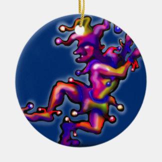 Spaßvogel-Saphir-Blau Rundes Keramik Ornament