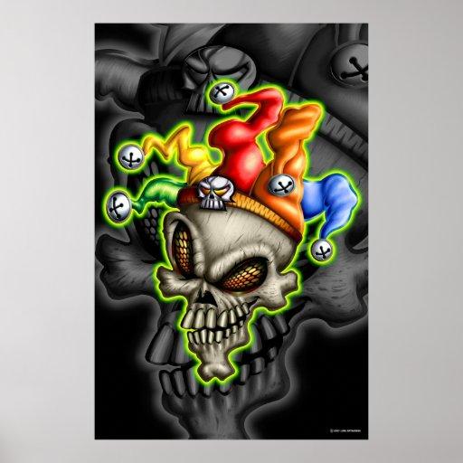 Spaßvogel-Schädel (Plakat)