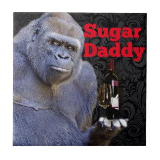 Spaßwitz lustiger Zuckervati-Gorilla Fliese
