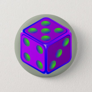 Spaßwürfel-Themaknopf Runder Button 5,7 Cm