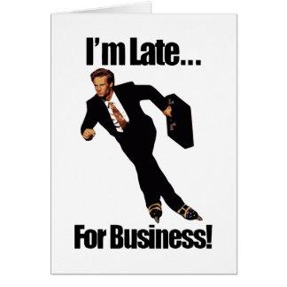 Spät für Geschäftrollerblade-Skater Meme Grußkarte