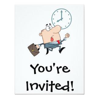 spät für lustigen Cartoon der Arbeit 10,8 X 14 Cm Einladungskarte