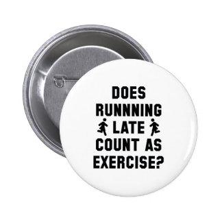 Spät laufen runder button 5,1 cm