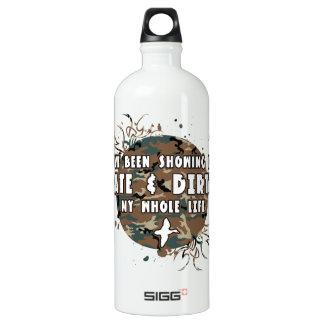 Spät und schmutzig mein ganzes Leben Wasserflasche