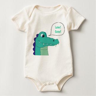 Später! Alligator! Baby Oraganic Bodysuit Baby Strampler