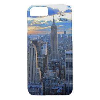 Später Nachmittag NYC Skyline als iPhone 8/7 Hülle
