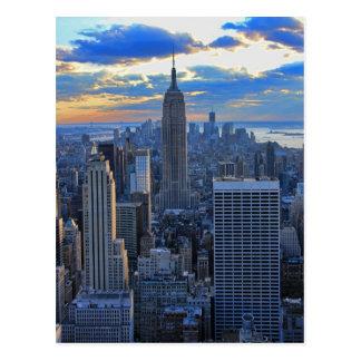 Später Nachmittag NYC Skyline als Postkarte