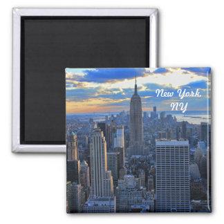 Später Nachmittag NYC Skyline als Sonnenuntergang  Kühlschrankmagnet