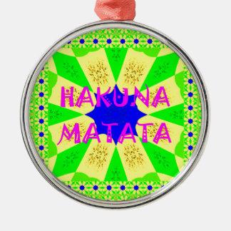 Spätester Hakuna Matata schöner fantastischer Rundes Silberfarbenes Ornament
