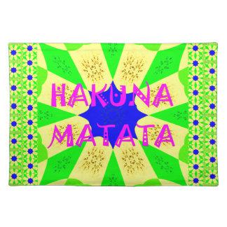 Spätester Hakuna Matata schöner fantastischer Stofftischset