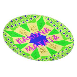 Spätester Hakuna Matata schöner fantastischer Teller