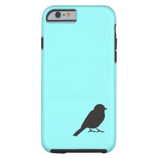 Spatzen-Silhouette blauer iPhone 6 Kasten Tough iPhone 6 Hülle
