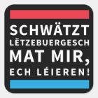 Speak Luxembourgish Black Sticker