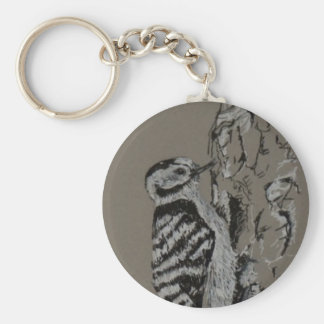Spechtschlüsselring, Vogel-Kunst Schlüsselanhänger
